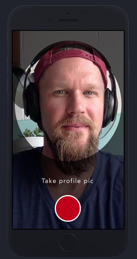 Shotz camera app - Profile view