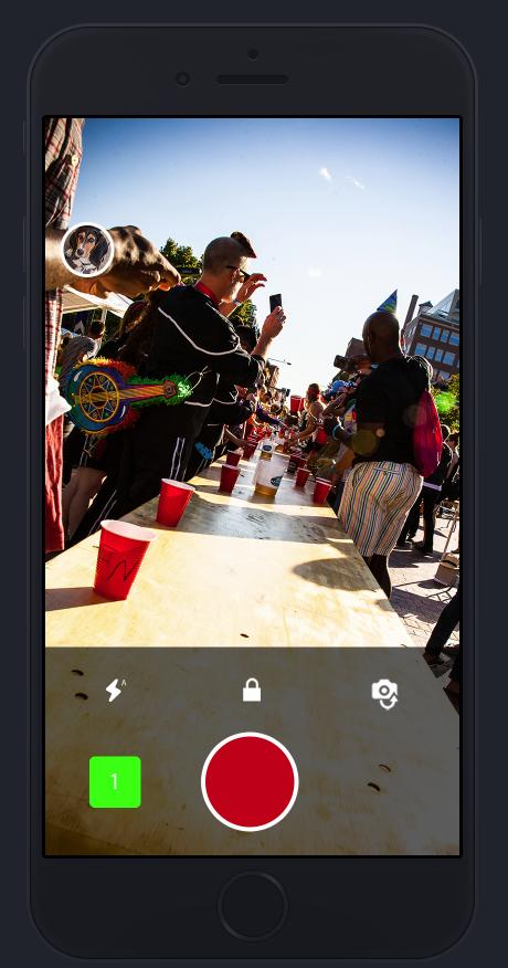 Shotz camera app - camera view - deselect