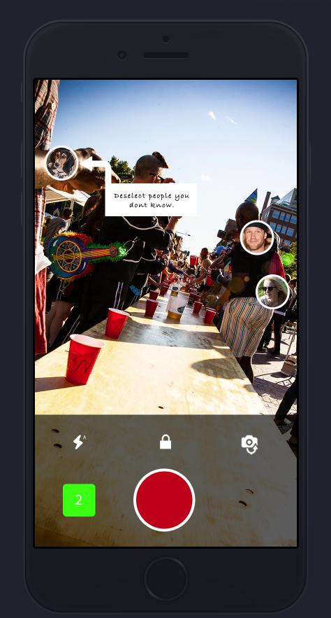 Shotz camera app - deselect